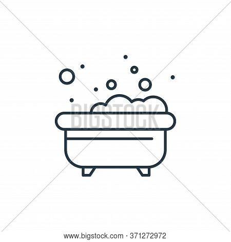 Bathtub Vector Icon. Bathtub Editable Stroke. Bathtub Linear Symbol For Use On Web And Mobile Apps,
