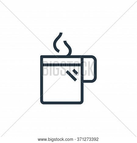 Hot Coffee Vector Icon. Hot Coffee Editable Stroke. Hot Coffee Linear Symbol For Use On Web And Mobi