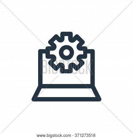 Configuration Vector Icon. Configuration Editable Stroke. Configuration Linear Symbol For Use On Web