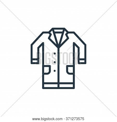 Lab Coat Vector Icon. Lab Coat Editable Stroke. Lab Coat Linear Symbol For Use On Web And Mobile App