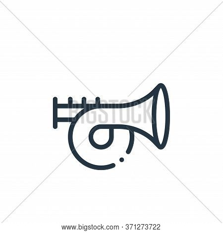 Trumpet Vector Icon. Trumpet Editable Stroke. Trumpet Linear Symbol For Use On Web And Mobile Apps,