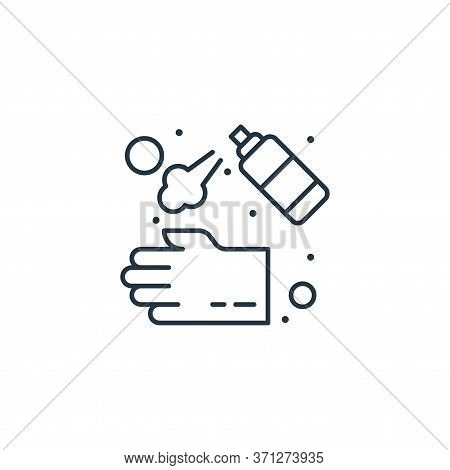 Hand Washer Vector Icon. Hand Washer Editable Stroke. Hand Washer Linear Symbol For Use On Web And M