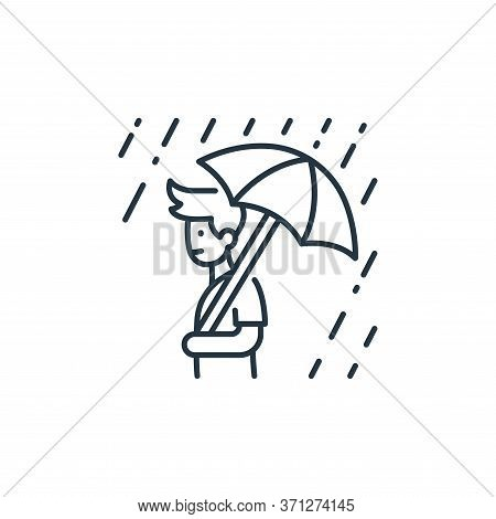 Rainy Day Vector Icon. Rainy Day Editable Stroke. Rainy Day Linear Symbol For Use On Web And Mobile