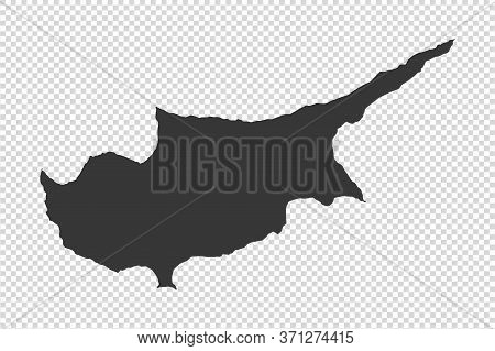 Cyprus  Map With Gray Tone On   Png Or Transparent  Background,illustration,textured , Symbols Of Cy