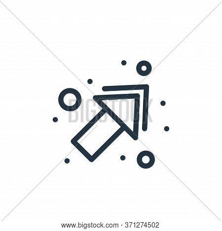 Arrow Upper Right Vector Icon. Arrow Upper Right Editable Stroke. Arrow Upper Right Linear Symbol Fo
