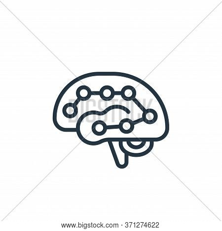 Deep Learning Vector Icon. Deep Learning Editable Stroke. Deep Learning Linear Symbol For Use On Web