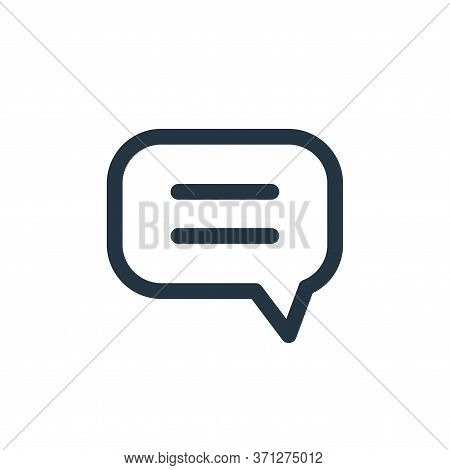 Chat Vector Icon. Chat Editable Stroke. Chat Linear Symbol For Use On Web And Mobile Apps, Logo, Pri