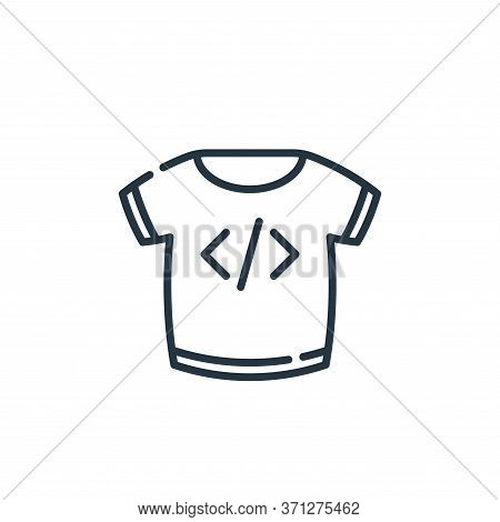 T Shirt Vector Icon. T Shirt Editable Stroke. T Shirt Linear Symbol For Use On Web And Mobile Apps,