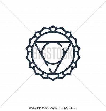 Visuddha Vector Icon. Visuddha Editable Stroke. Visuddha Linear Symbol For Use On Web And Mobile App