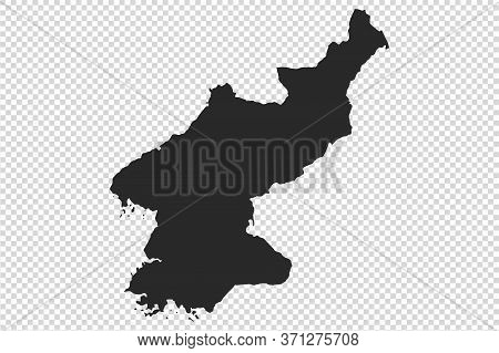 North Korea Map With Gray Tone On   Png Or Transparent  Background,illustration,textured , Symbols O
