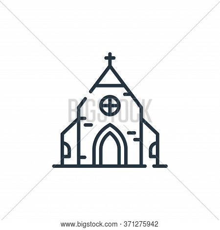 Church Vector Icon. Church Editable Stroke. Church Linear Symbol For Use On Web And Mobile Apps, Log