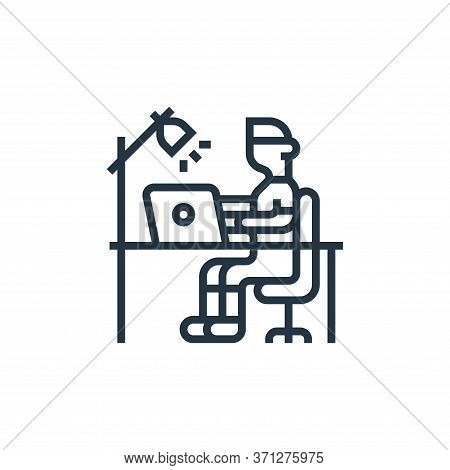 Stay At Home Vector Icon. Stay At Home Editable Stroke. Stay At Home Linear Symbol For Use On Web An