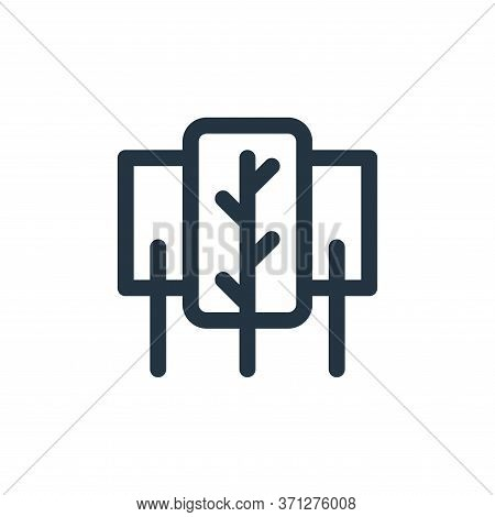 Nature Vector Icon. Nature Editable Stroke. Nature Linear Symbol For Use On Web And Mobile Apps, Log
