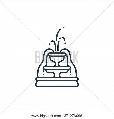 Fountain Vector Icon. Fountain Editable Stroke. Fountain Linear Symbol For Use On Web And Mobile App