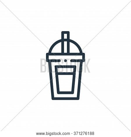 Smoothie Vector Icon. Smoothie Editable Stroke. Smoothie Linear Symbol For Use On Web And Mobile App
