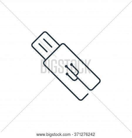 Flash Drive Vector Icon. Flash Drive Editable Stroke. Flash Drive Linear Symbol For Use On Web And M