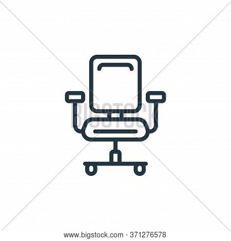 Office Chair Vector Icon. Office Chair Editable Stroke. Office Chair Linear Symbol For Use On Web An