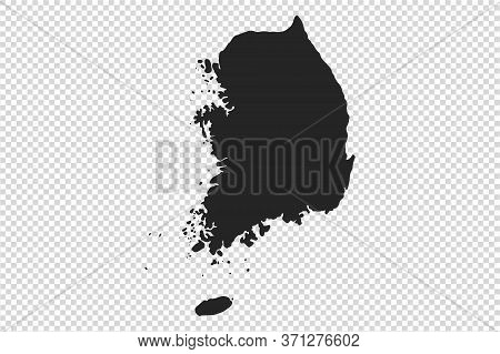 South Korea  Map With Gray Tone On   Png Or Transparent  Background,illustration,textured , Symbols