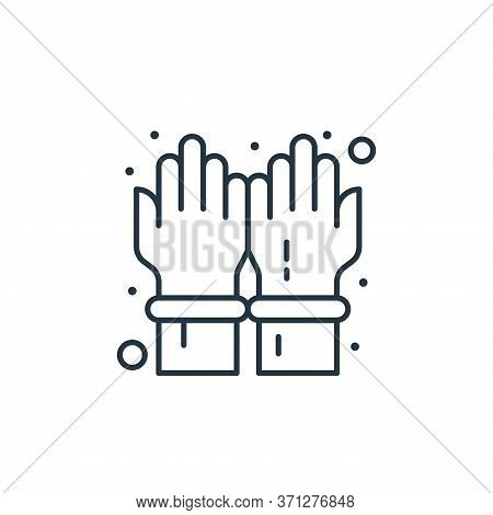Gloves Vector Icon. Gloves Editable Stroke. Gloves Linear Symbol For Use On Web And Mobile Apps, Log