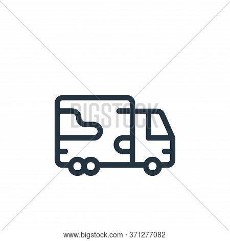 Military Truck Vector Icon. Military Truck Editable Stroke. Military Truck Linear Symbol For Use On