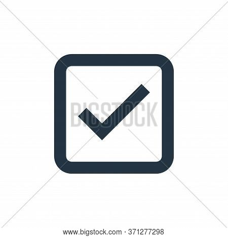 Check Mark Vector Icon. Check Mark Editable Stroke. Check Mark Linear Symbol For Use On Web And Mobi