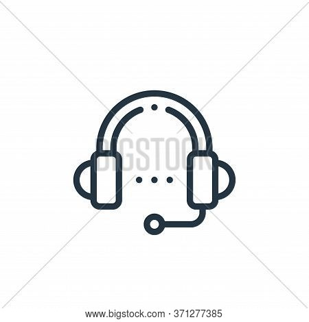 Headphones Vector Icon. Headphones Editable Stroke. Headphones Linear Symbol For Use On Web And Mobi