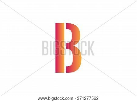 Creative  B Letter Design Vector  For Title, Header, Lettering, Logo. Technology Areas Typeface. Col