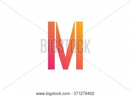 Creative  M Letter Design Vector  For Title, Header, Lettering, Logo. Technology Areas Typeface. Col