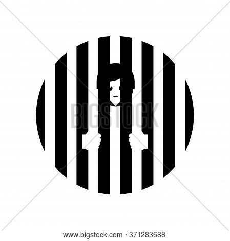 Jail Icon In Trendy Flat Style