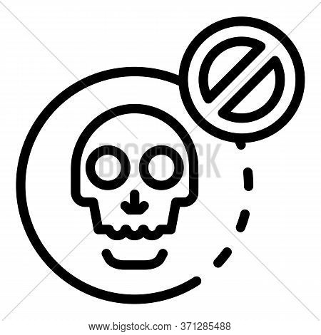 No Death Icon. Outline No Death Vector Icon For Web Design Isolated On White Background
