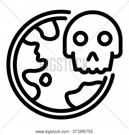 World Coronavirus Death Icon. Outline World Coronavirus Death Vector Icon For Web Design Isolated On