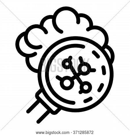 Inspect Coronavirus Icon. Outline Inspect Coronavirus Vector Icon For Web Design Isolated On White B