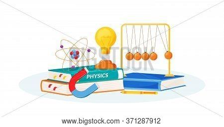 Physics Flat Concept Vector Illustration. School Subject. Natural Science Metaphor. Practical Class.