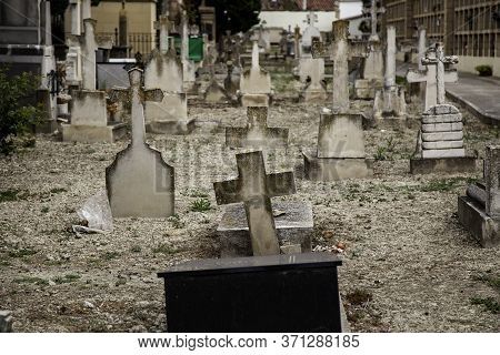 Old Graves In A Cemetery