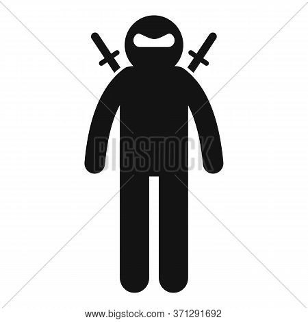 Japan Ninja Icon. Simple Illustration Of Japan Ninja Vector Icon For Web Design Isolated On White Ba