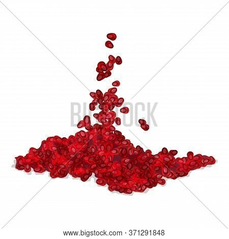 Pomegranate Grains Icon. Cartoon Of Pomegranate Grains Vector Icon For Web Design Isolated On White
