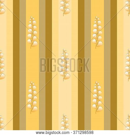 Seamless Geometric Striped Yellow Beige Pattern Stylish Background, Wallpaper With An Ornament Of Co