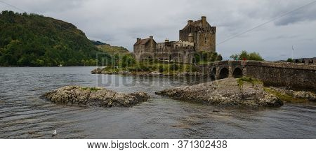 Dornie, Kyle Of Lochalsh, Scotland, Uk: Sep 22, 2017: Eilean Donan Castle Is Built On An Island At T