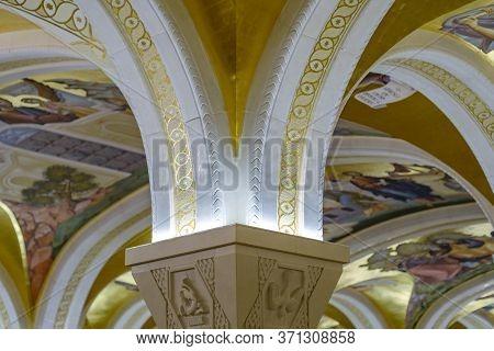 Crypt Of The Church Of Saint Sava In Belgrade, Serbia