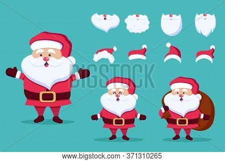 Christmas and New Year icon set. Santa Claus, gift, present. Christmas. Christmas Vector. Christmas Background. Merry Christmas Vector. Merry Christmas banner. Christmas illustrations. Merry Christmas Holidays. Merry Christmas and Happy New Year Vector Ba