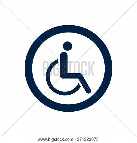 Premium Quality Isolated Accessibility Element In Trendy Style. Disabled Handicap Icon Symbol.