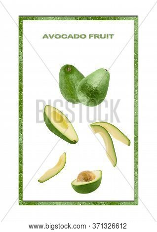 Avicado Isolated On White Background With Shallow Depth Of Field