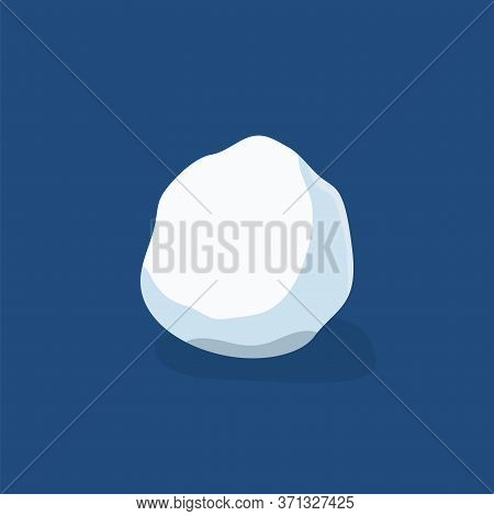 Snow Ball Ice. Winter Design Snowy Icicle Snowball. White Blue Snow Template. Decoration Isolated Bl