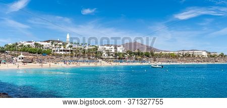 Landscape With Playa Blanca And Dorada Beach, Lanzarote, Canary Islands, Spain