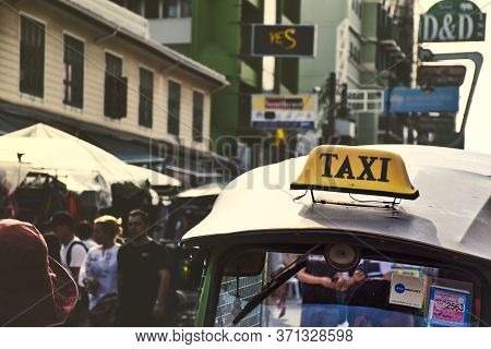 Tuk Tuk, Thai Traditional Taxis Waiting For Customers During Daylight On The Famous Khaosan Road Or
