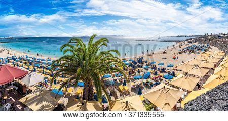 Lanzarote, Spain - October 10, 2019: Landscape With Playa Blanca And Dorada Beach, Lanzarote, Canary