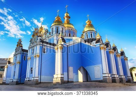 View Of St. Michaels Golden-domed Monastery In Kyiv, Ukraine