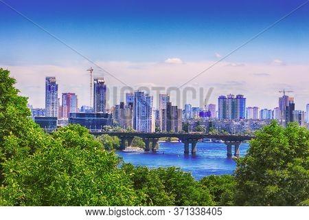 View Of Modern Building In Bereznyaki District In Kyiv, Ukraine. Bereznyaki Is Residential District