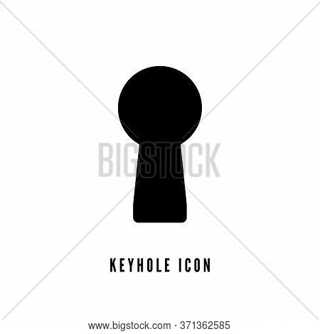 Keyhole Silhouette On White Background. Keyhole Flat Icon. Vector Illustration