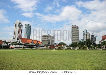 Kuala Lumpur, Malaysia - November 28, 2019: Buildings On Merdeka Square, Meaning Literally Independe